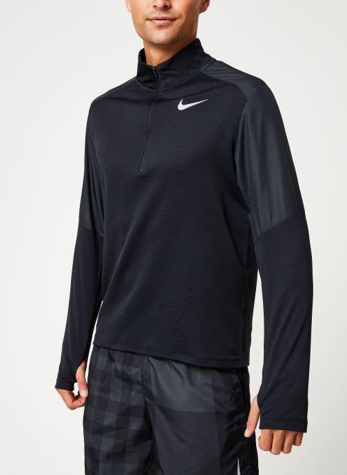 Kleding Nike Haut de Running Homme 1/2 zip Nike Pacer Zwart detail