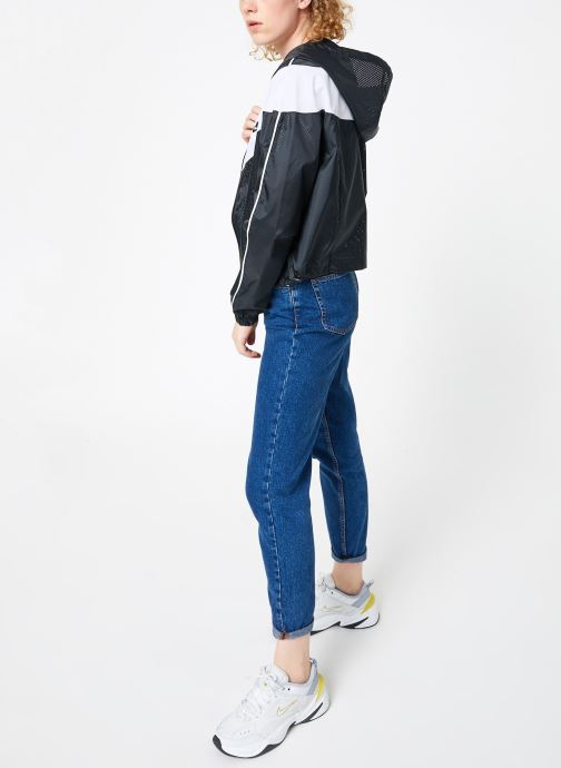 Vêtements Nike Veste femme Nike Sportswear Heritage Windbreaker Noir vue bas / vue portée sac