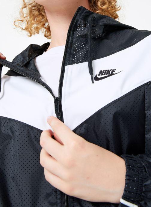 Vêtements Nike Veste femme Nike Sportswear Heritage Windbreaker Noir vue face
