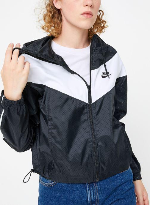 Vêtements Nike Veste femme Nike Sportswear Heritage Windbreaker Noir vue droite