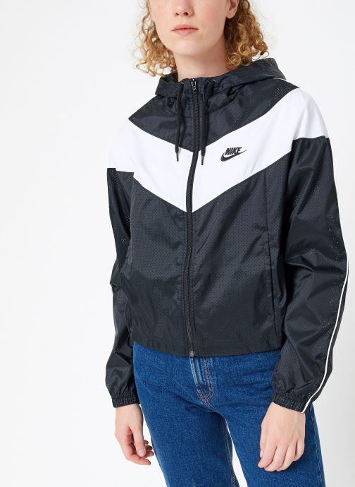 Vêtements Nike Veste femme Nike Sportswear Heritage Windbreaker Noir vue détail/paire