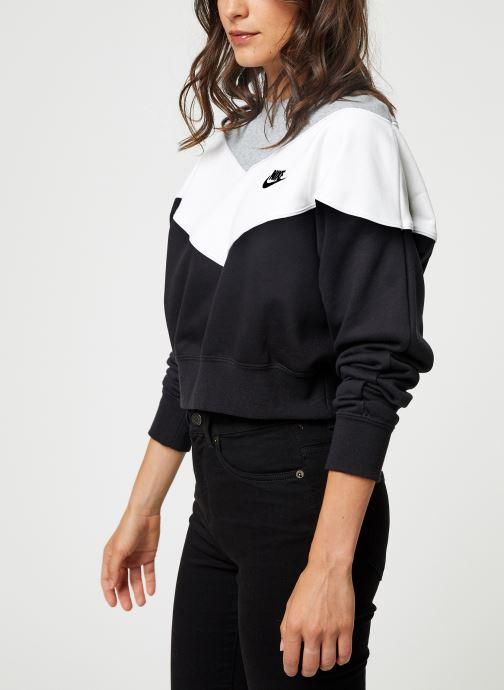 Tøj Nike Sweat Court Femme Nike Sportswear Heritage Sort Se fra højre