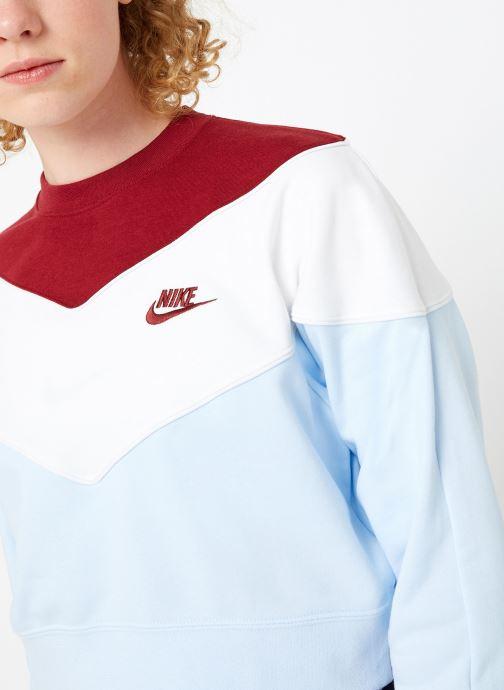 Vêtements Nike Sweat Court Femme Nike Sportswear Heritage Bleu vue face