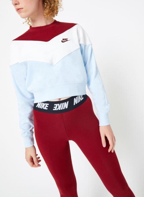 Vêtements Nike Sweat Court Femme Nike Sportswear Heritage Bleu vue droite