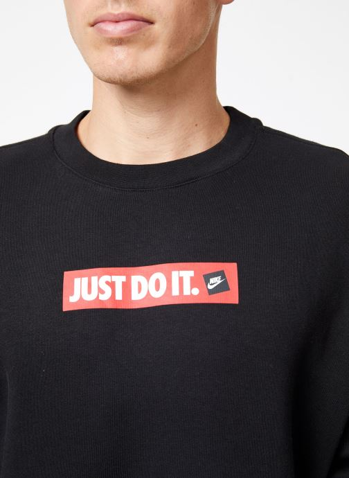 Vêtements Nike Sweat Homme Nike Sportswear Just Do It Noir vue face