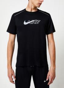 Haut de running Homme Nike Dry Miler Réflechissant manches courtes