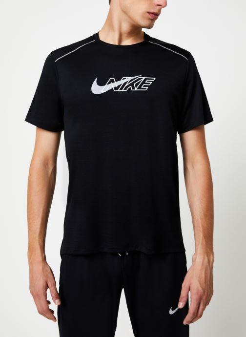 Vêtements Nike Haut de running Homme Nike Dry Miler Réflechissant manches courtes Noir vue détail/paire