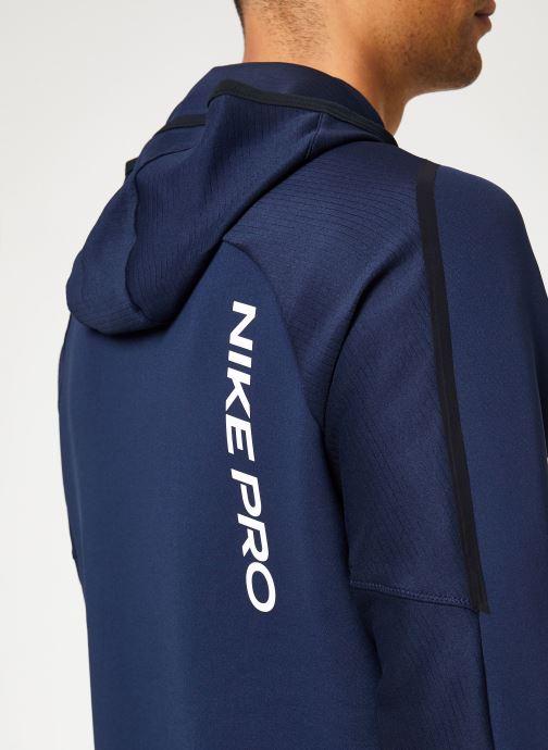 Kleding Nike Haut de Training Homme col roulé à capuche Nike Pro Blauw voorkant