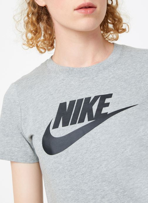 Vêtements Nike Tee-Shirt femme Nike Sportswear Essential Icon futura Gris vue face