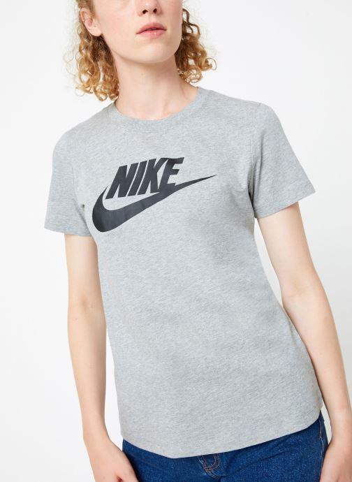 Vêtements Nike Tee-Shirt femme Nike Sportswear Essential Icon futura Gris vue droite