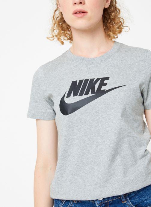 Vêtements Nike Tee-Shirt femme Nike Sportswear Essential Icon futura Gris vue détail/paire