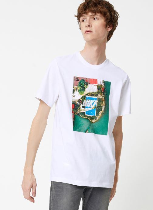 Tøj Nike Tee-Shirt Homme Nike Sportswear Court Hvid Se fra højre