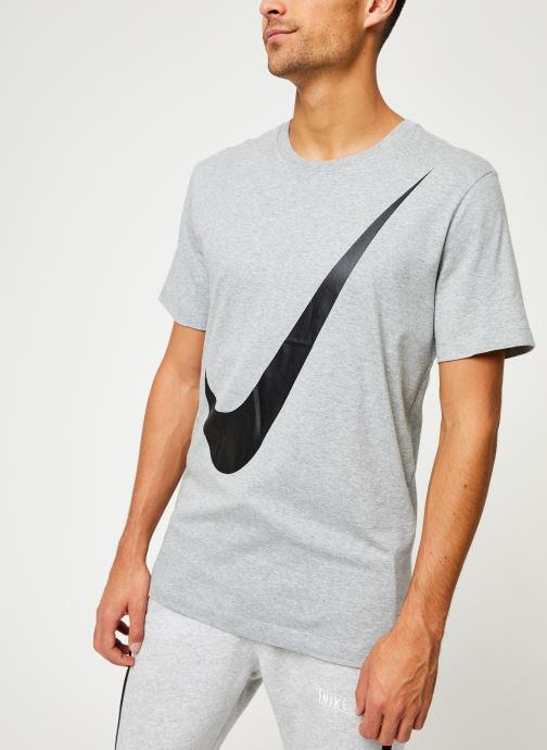 Vêtements Nike Tee-Shirt Homme Nike Sportswear big swoosh Gris vue droite