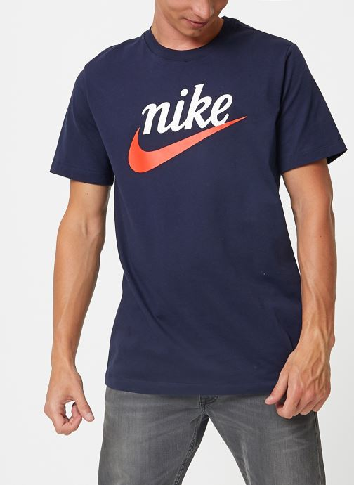 T shirt Tee Shirt Homme Nike Sportswear Heritage Bleu