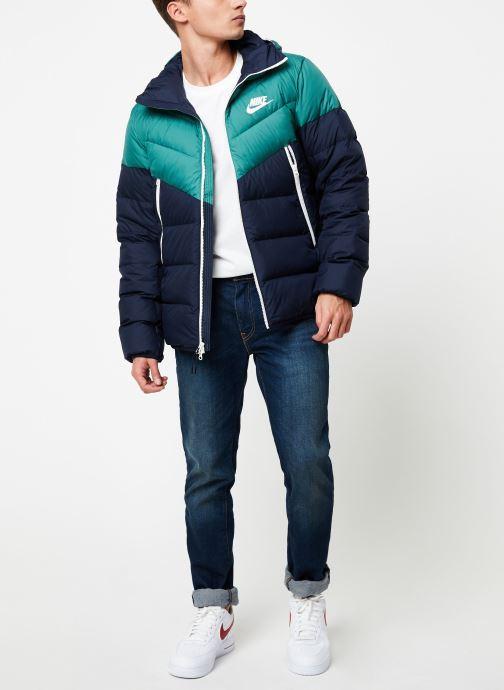 Vêtements Nike Blouson Windrunner Homme Nike Sportswear Bleu vue bas / vue portée sac