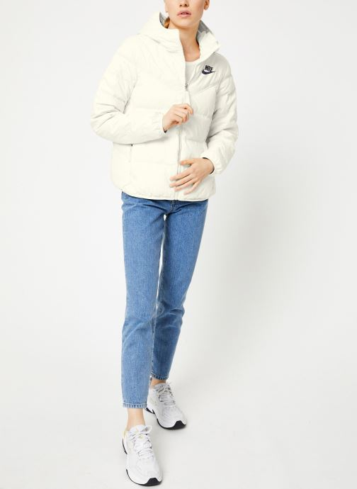 Vêtements Nike Blouson Windrunner Femme Nike Sportswear réversible Blanc vue bas / vue portée sac