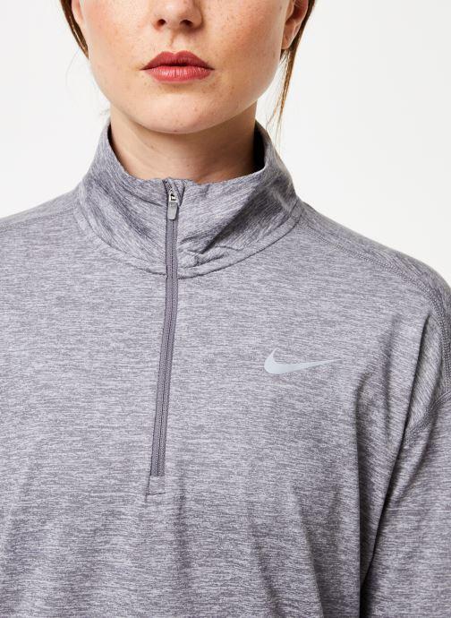 Vêtements Nike Haut de Running 1/2 zip Femme Nike Element Gris vue face