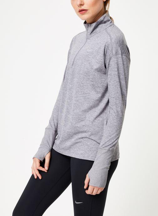 Vêtements Nike Haut de Running 1/2 zip Femme Nike Element Gris vue droite