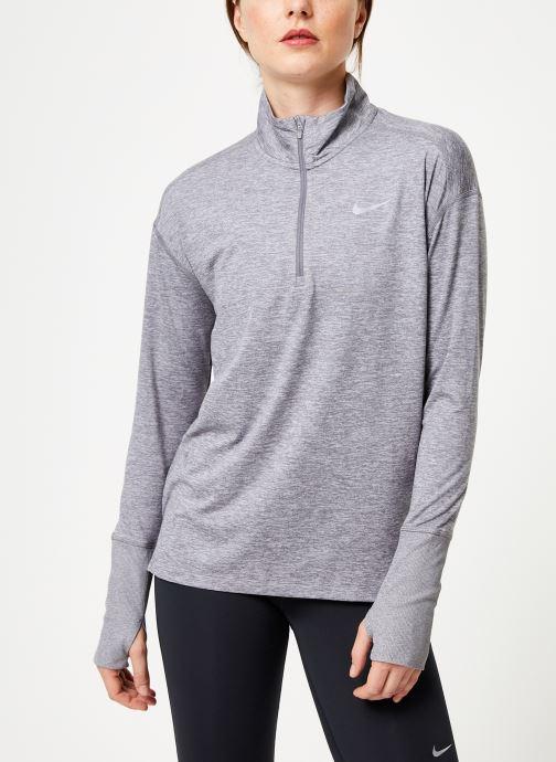 Vêtements Nike Haut de Running 1/2 zip Femme Nike Element Gris vue détail/paire