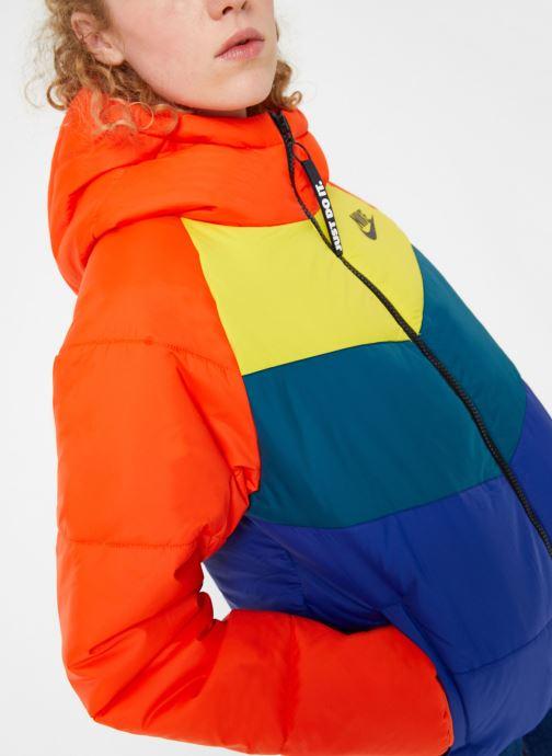 Kleding Nike Blouson Windrunner Femme Nike Sportswear Rood rechts