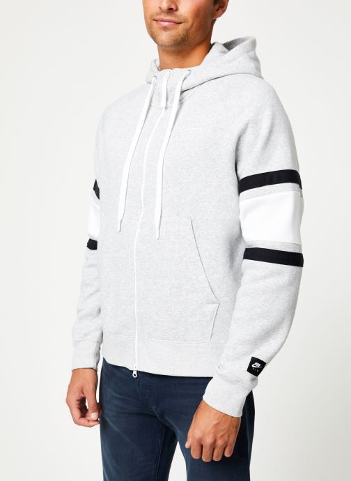 Vêtements Nike Veste zippée homme Nike Sportswear Air Gris vue détail/paire