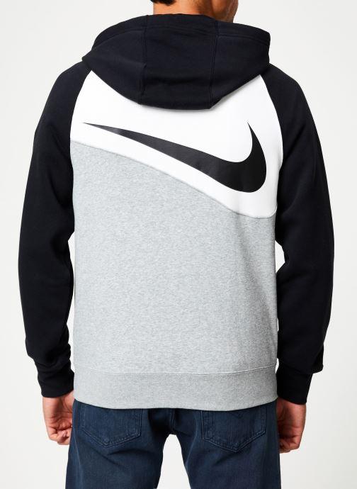 Vêtements Nike Veste zippée Homme Nike Sporstwear Swoosh Gris vue portées chaussures