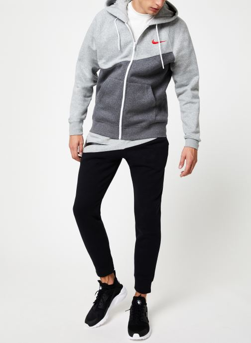 Tøj Nike Veste zippée Homme Nike Sporstwear Swoosh Grå se forneden