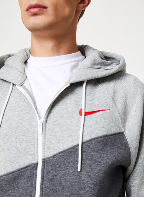 Tøj Nike Veste zippée Homme Nike Sporstwear Swoosh Grå se forfra