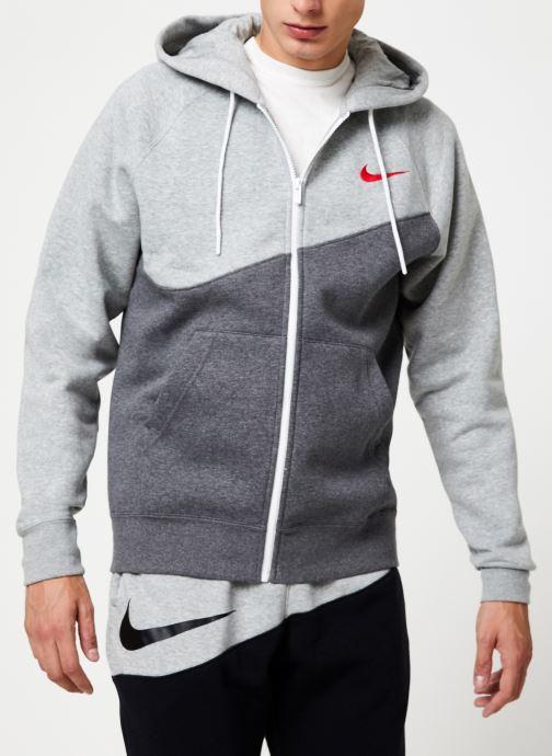 Tøj Nike Veste zippée Homme Nike Sporstwear Swoosh Grå Se fra højre