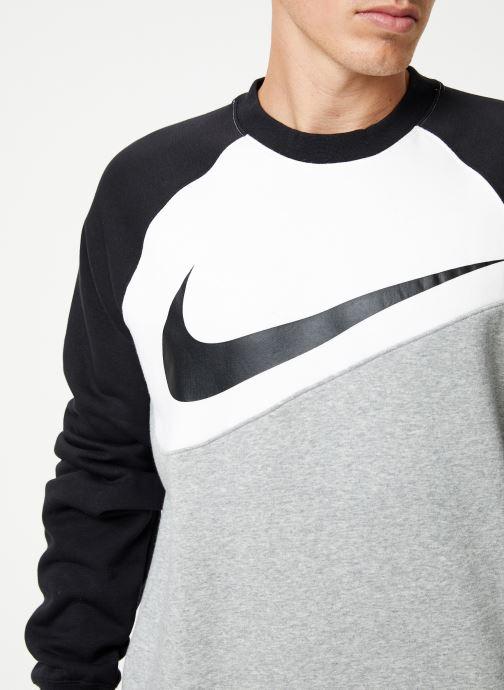 Vêtements Nike Sweat Homme Nike Sporstwear Swoosh Gris vue face