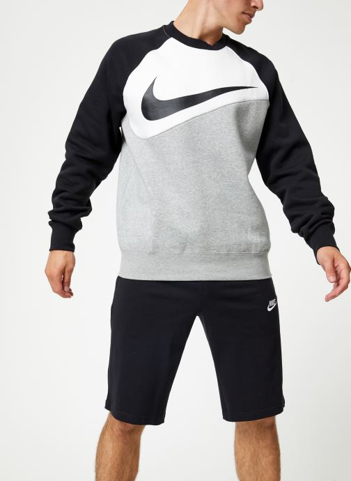Vêtements Nike Sweat Homme Nike Sporstwear Swoosh Gris vue droite