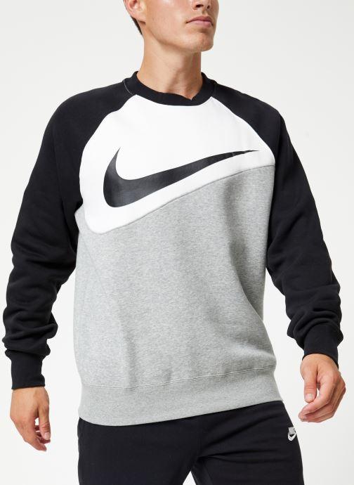 Vêtements Nike Sweat Homme Nike Sporstwear Swoosh Gris vue détail/paire