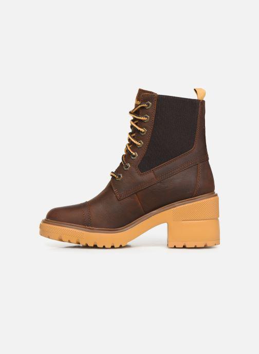 Boots en enkellaarsjes Timberland Silver Blossom Mid Bootie Bruin voorkant