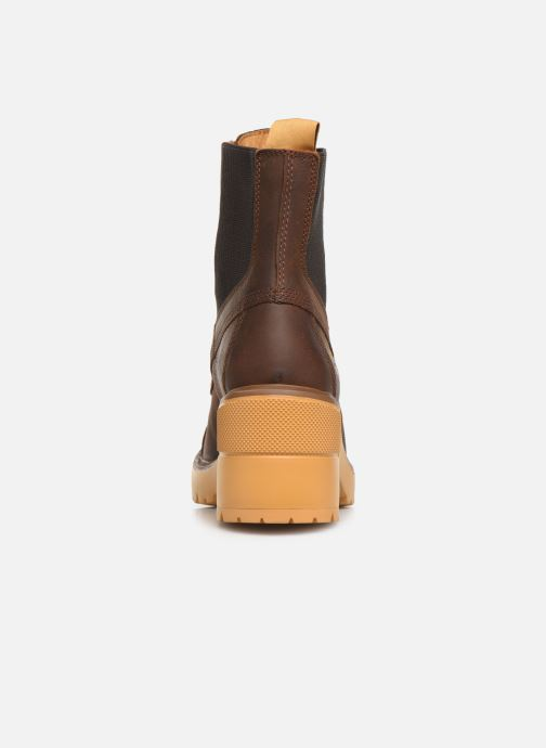 Ankle boots Timberland Silver Blossom Mid Bootie Brown view from the right