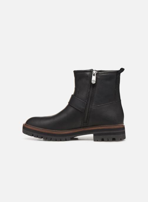 Boots en enkellaarsjes Timberland London Square Biker Zwart voorkant
