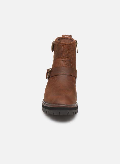 Bottines et boots Timberland London Square Biker Marron vue portées chaussures