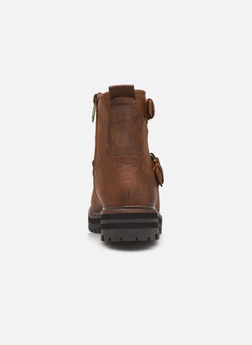 Ankle boots Timberland London Square Biker Brown view from the right