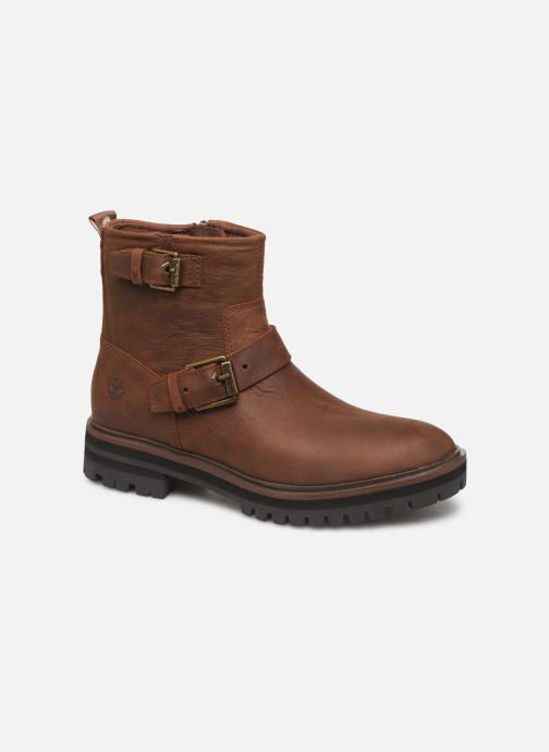 Ankle boots Timberland London Square Biker Brown detailed view/ Pair view