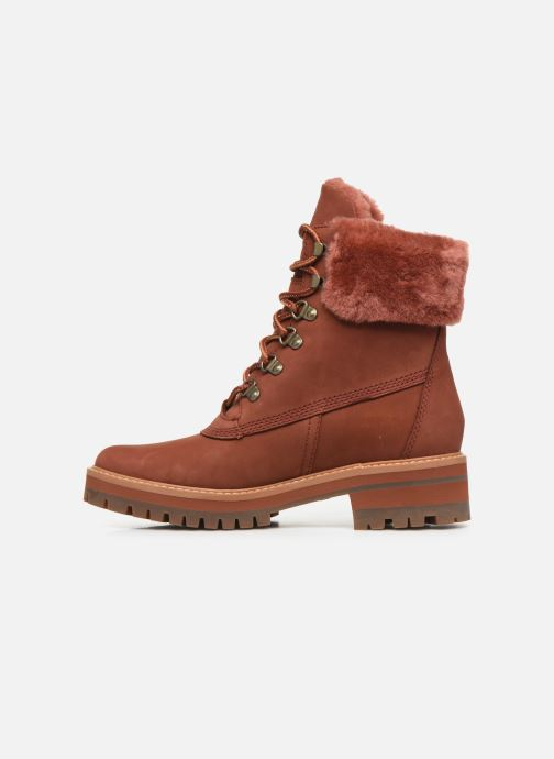 Botines  Timberland Courmayeur Valley WP 6in Rojo vista de frente