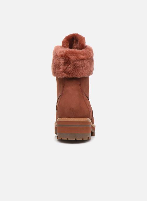 Boots en enkellaarsjes Timberland Courmayeur Valley WP 6in Rood rechts