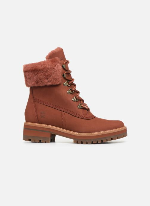 Botines  Timberland Courmayeur Valley WP 6in Rojo vistra trasera