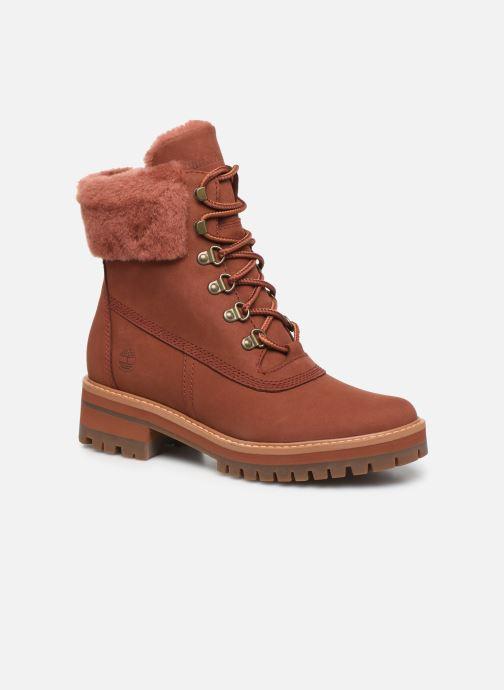Boots en enkellaarsjes Timberland Courmayeur Valley WP 6in Rood detail