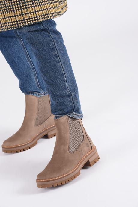 Stiefeletten & Boots Timberland Courmayeur Valley Chelsea beige ansicht von unten / tasche getragen