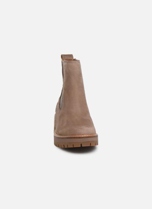 Stiefeletten & Boots Timberland Courmayeur Valley Chelsea beige schuhe getragen