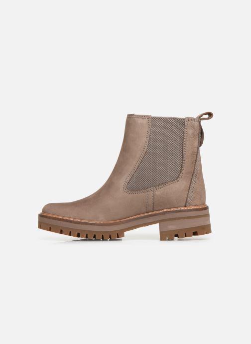 Stiefeletten & Boots Timberland Courmayeur Valley Chelsea beige ansicht von vorne