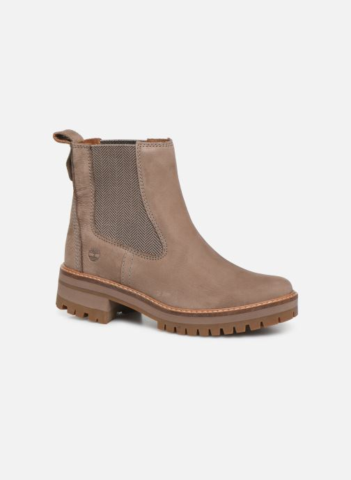 Bottines et boots Timberland Courmayeur Valley Chelsea Beige vue détail/paire