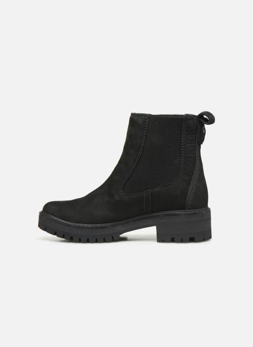Boots en enkellaarsjes Timberland Courmayeur Valley Chelsea Zwart voorkant