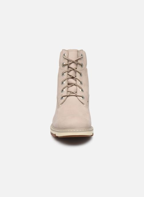 Bottines et boots Timberland Lucia Way 6in WP Boot Gris vue portées chaussures