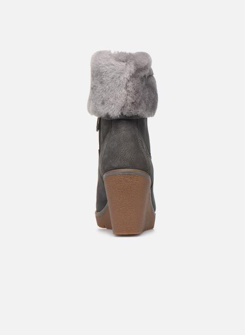 Bottines et boots Timberland Paris Height ShearChelsea Gris vue droite