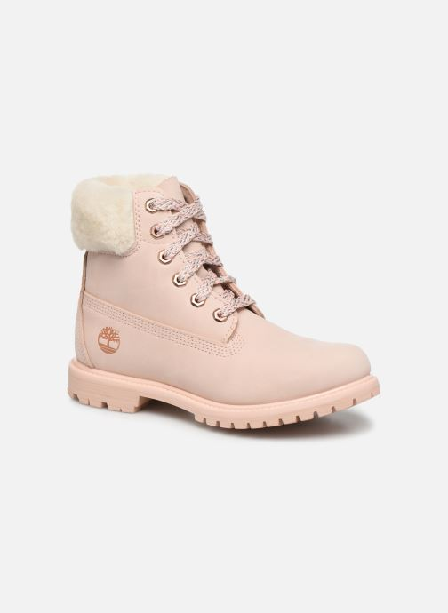 Bottines et boots Timberland 6in Premium w/Shearling Rose vue détail/paire